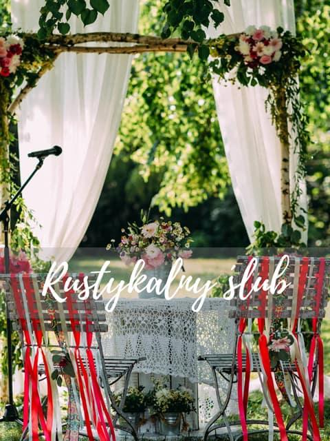 dekoracje ślub iw plenerze wesele