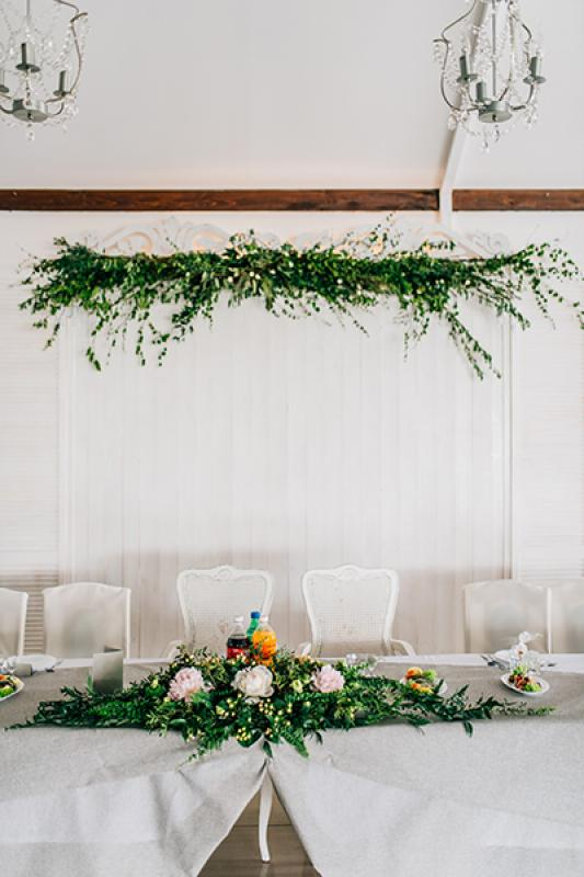 dekoracja stołu młodych wesele warszawa