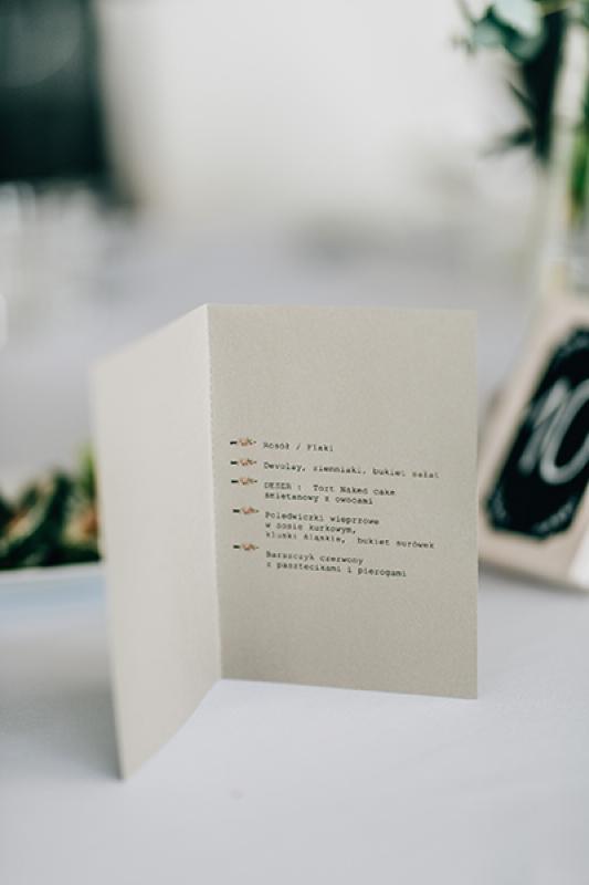 dekoracje ślubne boho  menu weselne warszawa