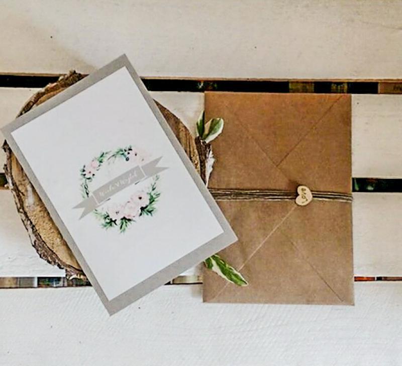 rustykalne zaproszenie ślubne warszawa