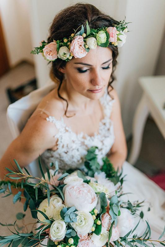wianek bukiet ślubny warszawa dekoracja weselna boho