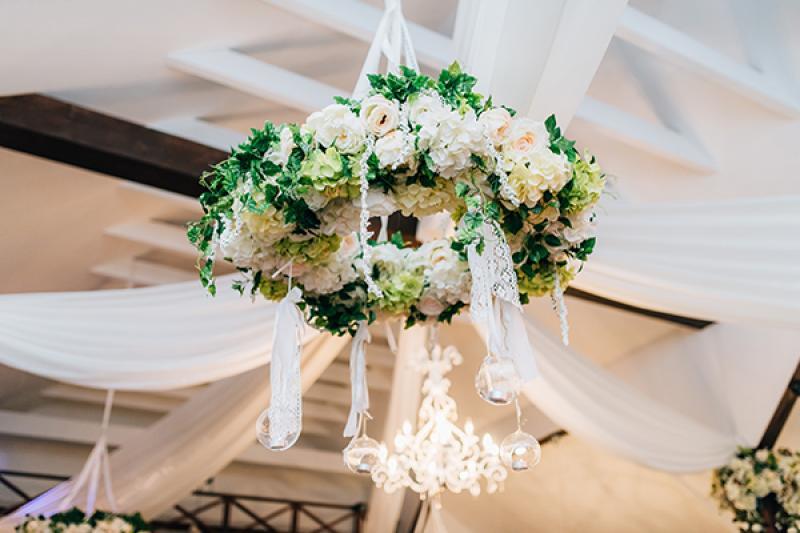 dekoracje ślubne boho wianek dekoracja sali warszawa
