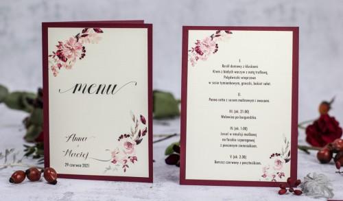 menu-weselne-krem-bordo-kwiaty