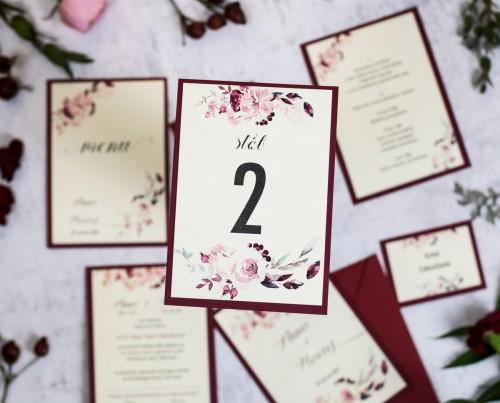 numer-stolu-krem-bordo-kwiaty