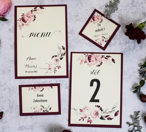papeteria-weselna-bordo-krem-kwiaty