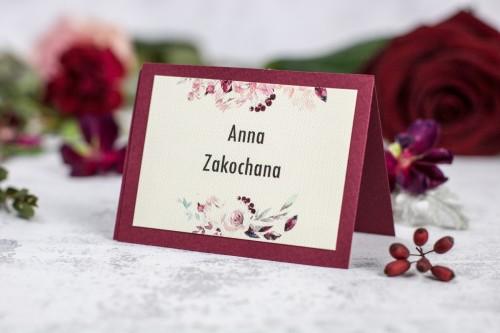 winietka-krem-bordo-kwiaty
