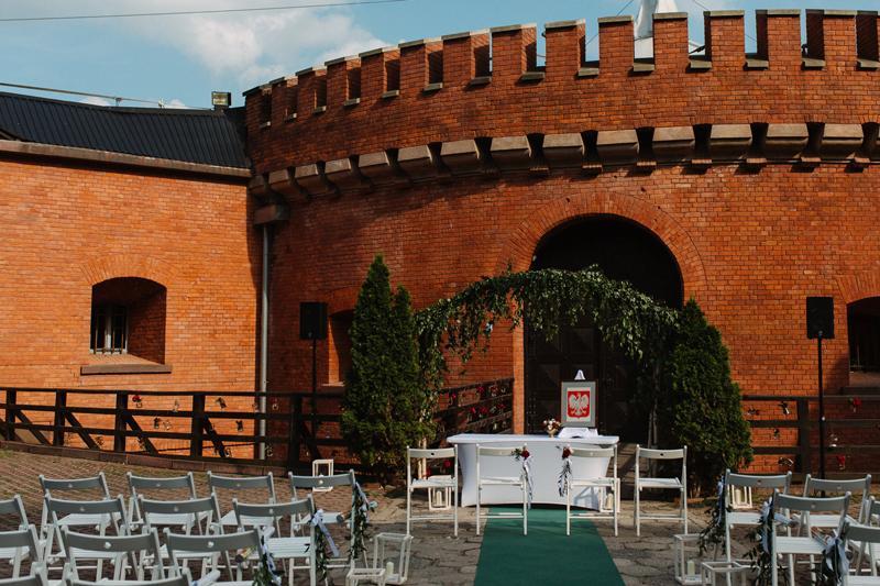 dekoracje bordo ślub w plenerze warszaw forteca