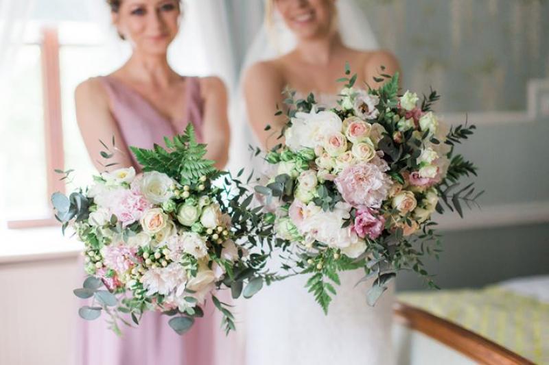 pastelowy bukiet ślubny warszawa kwiaty