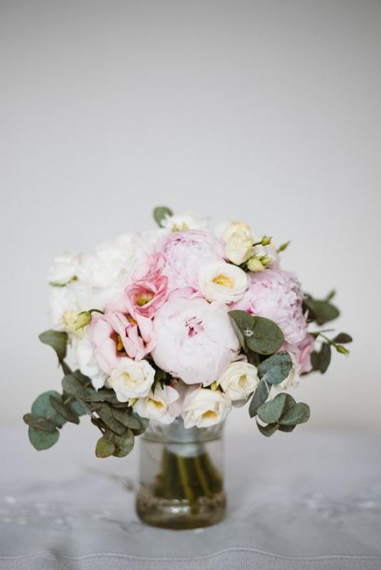 różowa peonia bukiet na ślub warszawa