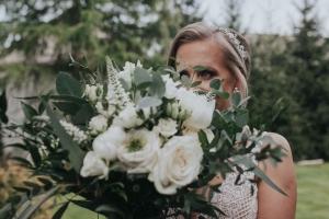 rustykalny bukiet warszawa ślubny róże