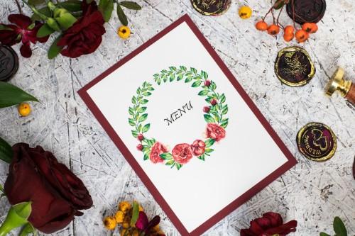 czerwone-roze-menu-weselne