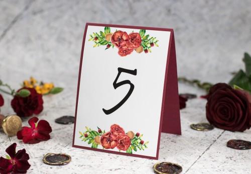 numer-stolu-czerwone-roze