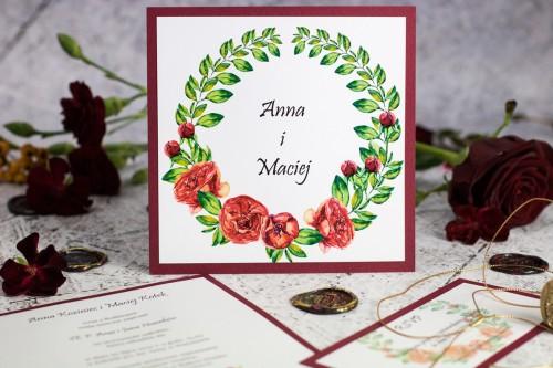 zaproszenie-slubne-bordowe-roze