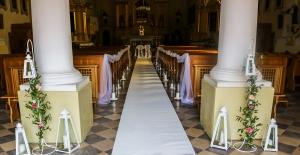 biały dywan dekoracje ślubne warszawa