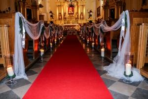 dekoracja alejki warszawa zimowy ślub