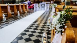dekoracja kościoła greenery dekoracje ślubne warszawa