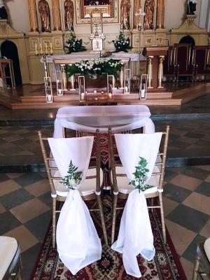 dekoracja kościoła warszawa ślub