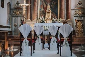 dekoracja krzeseł warszawa rustykalny ślub