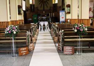 dekoracja na ślub kościelny