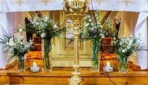 dekoracja ołtarza greenery dekoracje ślubne warszawa