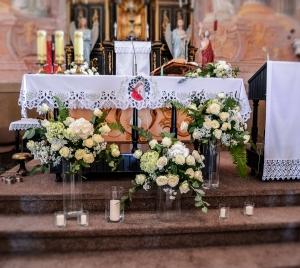 dekoracja warszawa kościół ślub