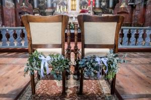 eukaliptus dekoracja krzeseł młodych