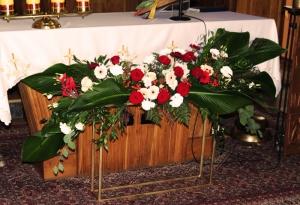 geometryczna dekoracja ślubu
