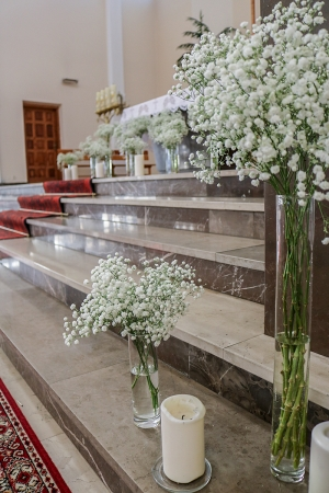 kościół ślub gipsówka dekoracje ślubne warszawa
