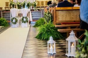 paprocie kościół ślub