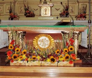 rustykalna dekoracja kościoła warszawa
