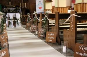 tabliczki hymn miłość ślub