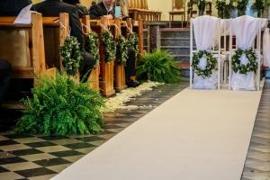 wianki paproć kościół ślub
