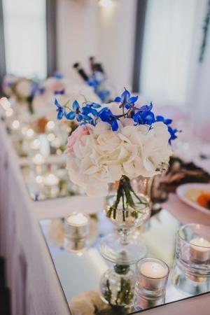 dekoracja ślubna hortensja