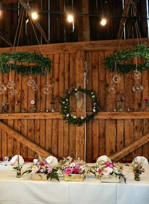 dekoracja stołu młodych warszawa peonie rustykalnie