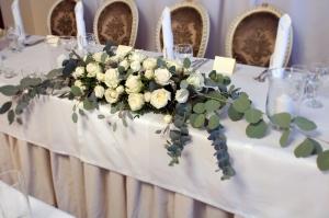 dekoracja stołu państwa młodych warszawa