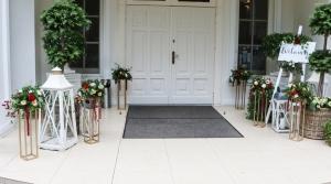 dekoracja wejścia wesele lawendowe wzgórze