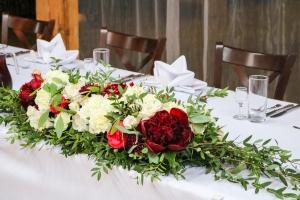 dekoracja ślubna bordo krem
