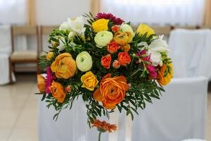 gerbera dekoracja stołu wesele warszawa
