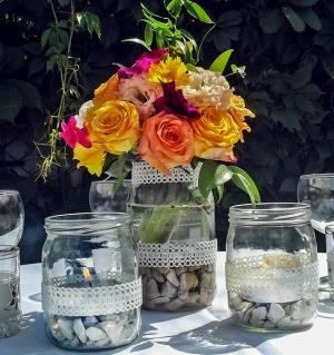 stół dekoracja kwiaty warszawa wesele