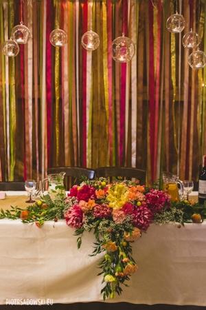 warszawa dekoracja stołu młodych rustykalnie