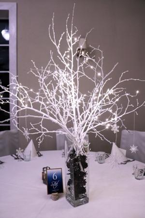 zimowa dekoracja stoły gości