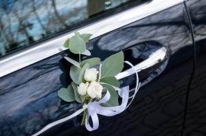 dekoracja klamki ślub
