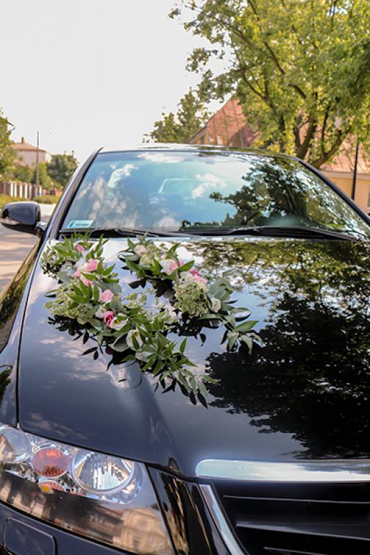 dekoracja maski auta ślub warszawa