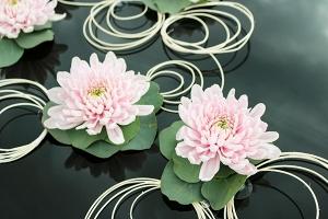 dekoracja samochodu warszawa różowa kwiaty