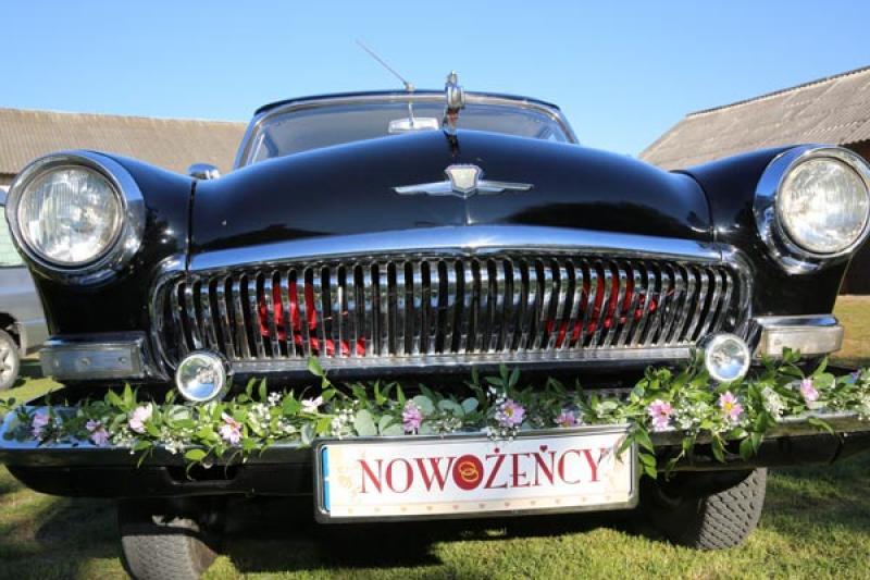 dekoracja samochodu wołga