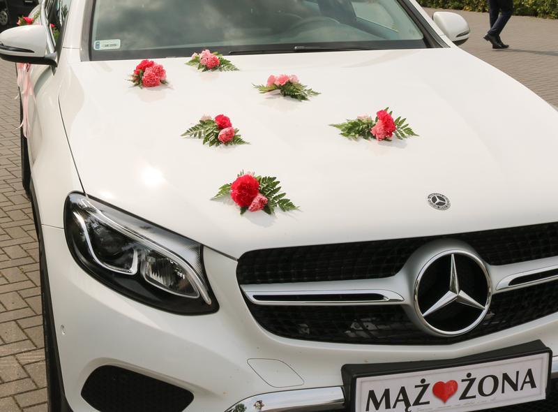 dekoracja ślub samochód