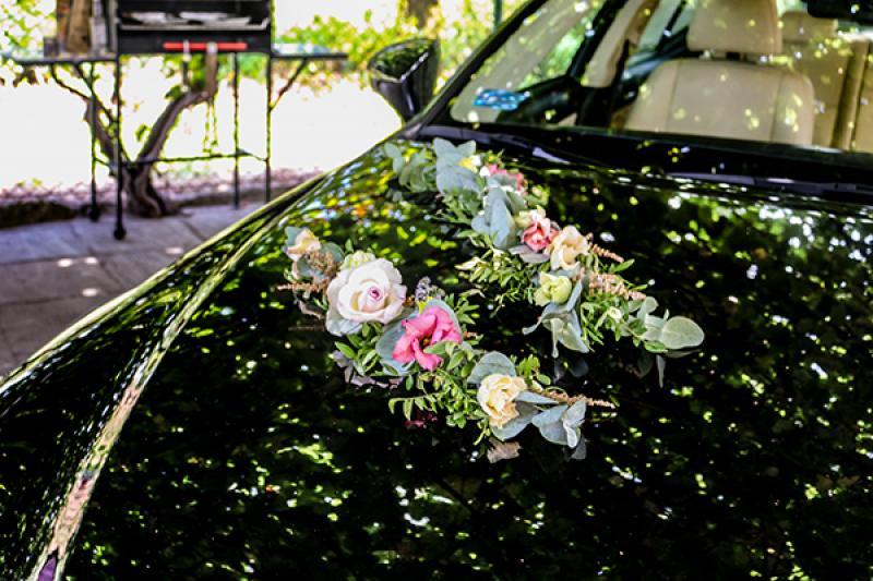 ślubna dekoracja samochodu warszawa