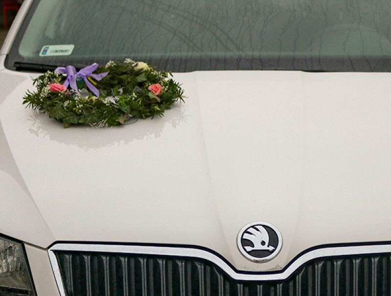 wianek na samochód ślub warszawa