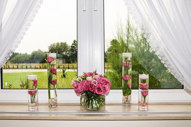 dekoracja sali weselnej warszawa okno