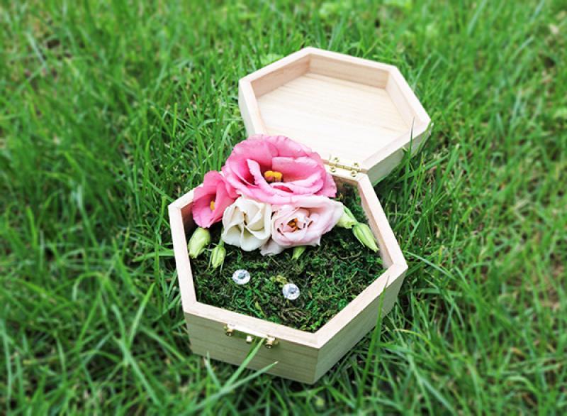 pudełko  na obrączki warszawa eustoma